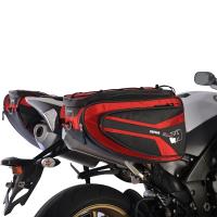 Boční brašny na motocykl OXFORD P50R černé/červené, 50L