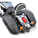 Pevné boční kufry na moto z ABS se zámky, 2x33l