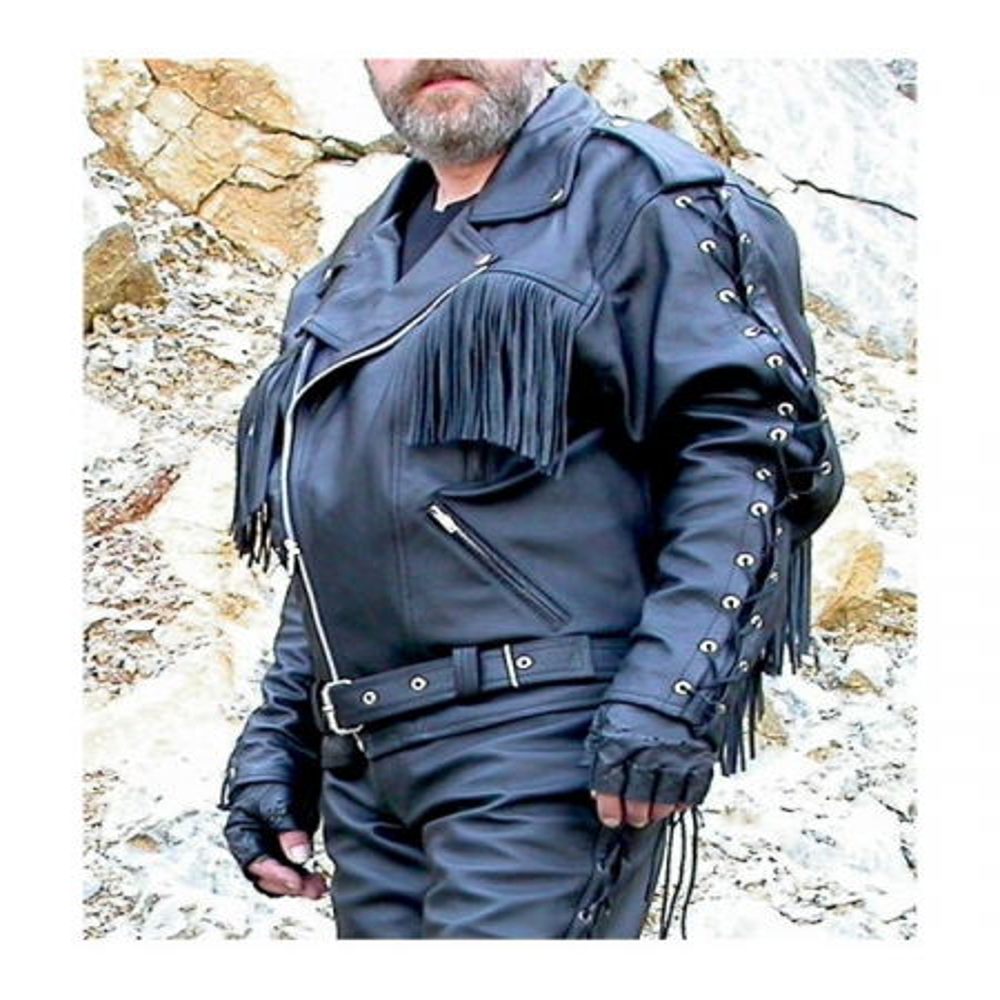 Kožená bunda BIKERS MODE F - JS