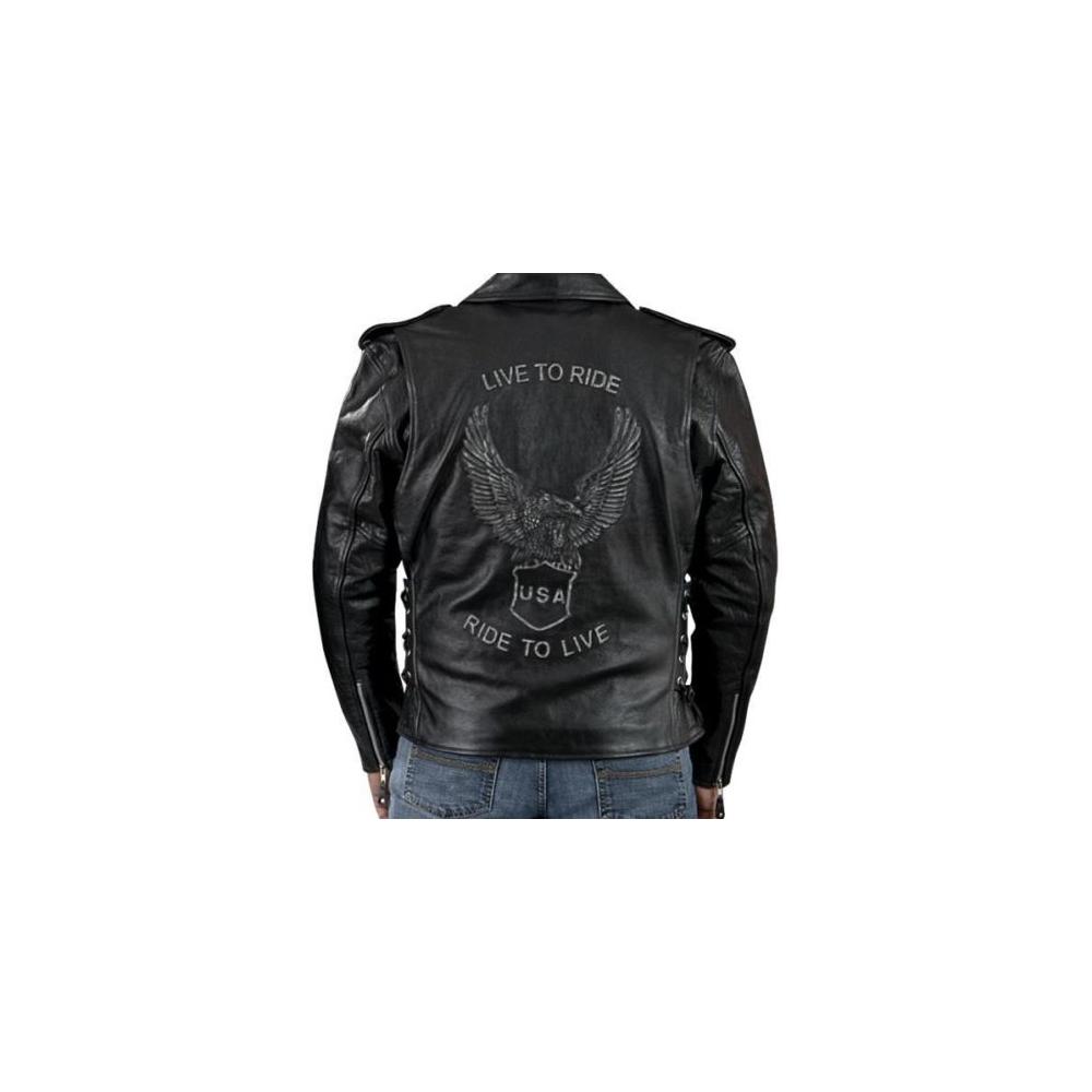 Kožený křivák Live To Ride Eagle s vyjímatelnými CE chrániči