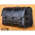Kožený moto kufr K17, 44L, 48x33x28cm